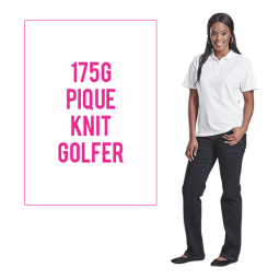 Ladies 175g Barron Pique Knit Golfer
