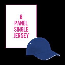 6 Panel Single Jersey Cap