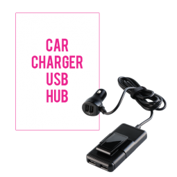 Car Charger with USB Hub
