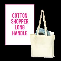 Cotton Shopper with Long Handles