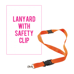Lanyard with safety release clip