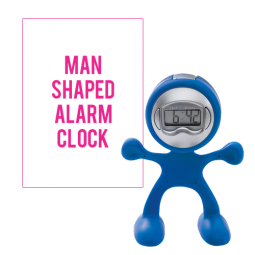 Man Shaped Alarm Clock with Memo Holder